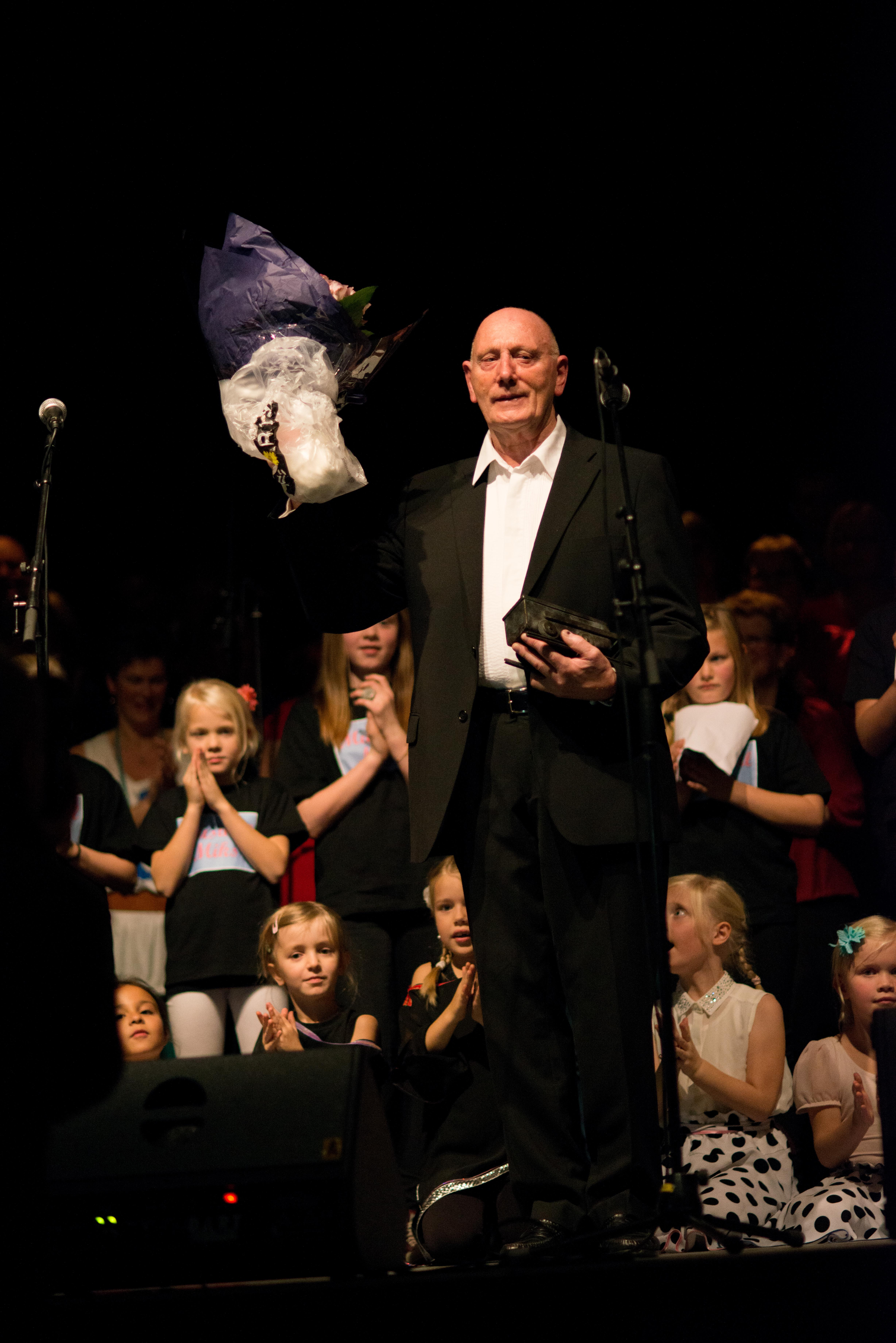 Bjarne fikk Frivillighetsprisen 2013- Foto: Sian O'Hara